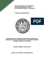 CONTADURIA PUBLICA Y AUDITORIA EPS USAC ESTADO FINANCIERO