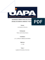 TAREA I DE LEGISLACION MONETARIA Y FINANCIERA