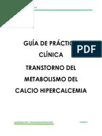 E83.5   ALTERACION DEL CALCIO - HIPERCALCEMIA