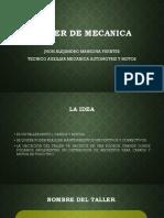 TALLER DE MECANICA