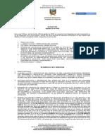 Acta N° 057 aprobacion de proyecto