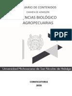 TEMARIO_EXAUM_II_2020_CBA Biologia comachuen