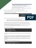 Création des tables en SQL
