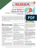 A Missa - Ano A - nº 59 - Solenidade de Todos os Santos - 31º  Domingo do Tempo Comum - 01.11.20