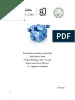 Fundamentos y análisis de algoritmos