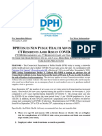 Public Health Advisory, Connecticut  Nov. 5