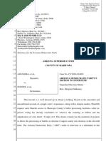 Aguilera v. Fontes/Supervisors - AZ Democratic Party Motion to Intervene