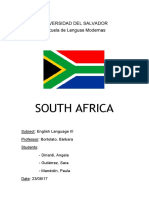 South Africa hand out