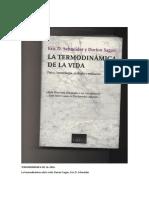La termodinámica de la vida-Dorion Sagan