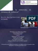 Claves para la entrevista de víctimas de violencia OCG