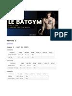 BATGYM - Niveau 1 - S1