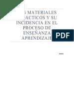 los materiales didacticos y su incidencia en la enseñanza