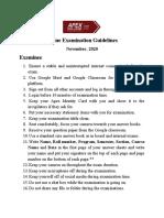 Examinee Guideline -Online Examination November 2020