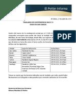 EPI INICIO TRASLADO BUS DESDE SAN CARLOS CONTINGENCIA GRUPO 14