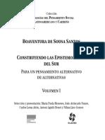 Sousa Santos Un Discurso Sobre Las Ciencias