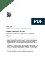 BIOGRAFIA DE SOCRATES