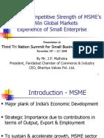 MrJPMalhotraEnhancing Competitive Strength of MSME's