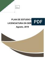 Plan de estudios Lic. Derecho EDPA 2019
