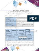 Guía de Actividades y Rúbrica de Evaluación-Paso 4 - Elaborar la proyección del propio proceso formativo en el programa de Licenciatura