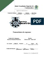 Nomenclatura de Engranes - AYCG 6B