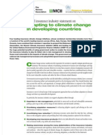 Insurance Industry Statement on Adapting to Climate Change in Developing Countries (2010)
