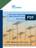 Clean Energy Public Investment makes Economic Sense (2009)