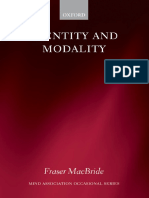 MacBride - Identity and Modality - Oxford University Press, USA. 0199285748