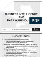 BI, DWH and Information Security