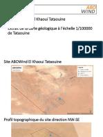 Site ABOWind-ElKhaoui-Tataouine - Evaluation géologique et géotechnique préliminaire(1)