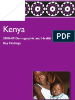 Key Findings Kenya 2008-09 DHS