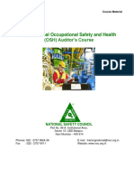 NSCI Internal Occupational Safety & Health (OSH) Auditor's Course Reading Material 05-07 October 2020