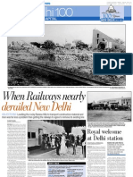 1911 - 2011 Railway near to Sansad Bhawan, Delhi