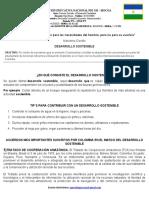 GUÍA  N°1 - DESARROLLO SOSTENIBLE (TRATADOS INTERNACIONALES) - CIENCIAS SOLCIALES Y FORMACIÓN CIUDADANA
