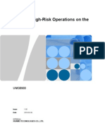 Guide to High-Risk Operations on the UMG8900