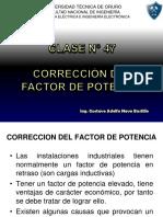CLASE N° 47 CORRECCIÓN DEL FACTOR DE POTENCIA