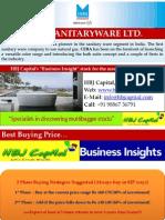CERA Sanitary Ware LTD - HBJ Capital's (MPS Unit) - Business Insight Stock Reco for Jan'11