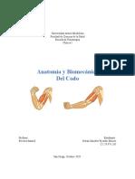Anatomía y Osteología del Codo