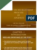 a study on recruitmant process