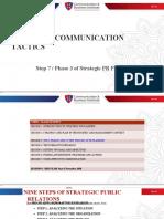 Choosing Communication Tactics