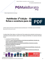 Pathfinder 2ª Edição - liberadas fichas e aventura para download