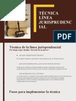 4.1 TÉCNICA LÍNEA JURISPRUDENCIAL