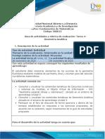 Guia de actividades y Rúbrica de evaluación -Tarea 4– Geometría Analítica