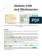 Alphabets With Integrated Dictionaries