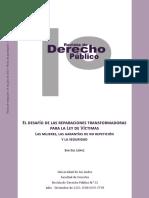 EL DESAFÍO DE LAS REPARACIONES TRANSFORMADORAS PARA LA LEY DE VÍCTIMAS