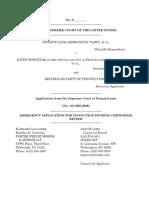 Pennsylvania GOP - Emergency Application for Injunction to SCOTUS