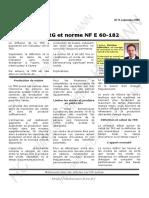 NF E 60-182