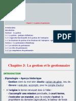CHAPITRE 3 LA GESTION ET LE GESTIONNAIRE LE 2019