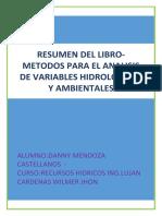 RESUMEN METODOS- RECURSOS HDRICOS