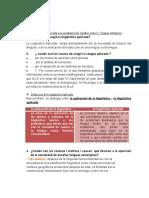 La lingüística aplicada a la enseñanza del español como l2