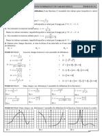Chap 3 - Ex 3A - Valeurs interdites et ensemble de définition d'une fonction - CORRIGE